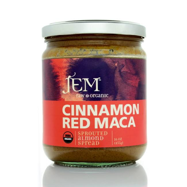 Jem Raw Cinnamon Red Maca Sprouted Almond Butter, 16 oz