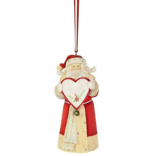 Heart of Christmas Blank Santa Ornament 6003915 New