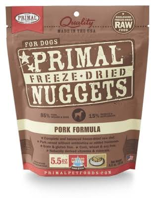 Primal Dog Food Freeze Dried Nuggets - Pork Formula, 5.5oz