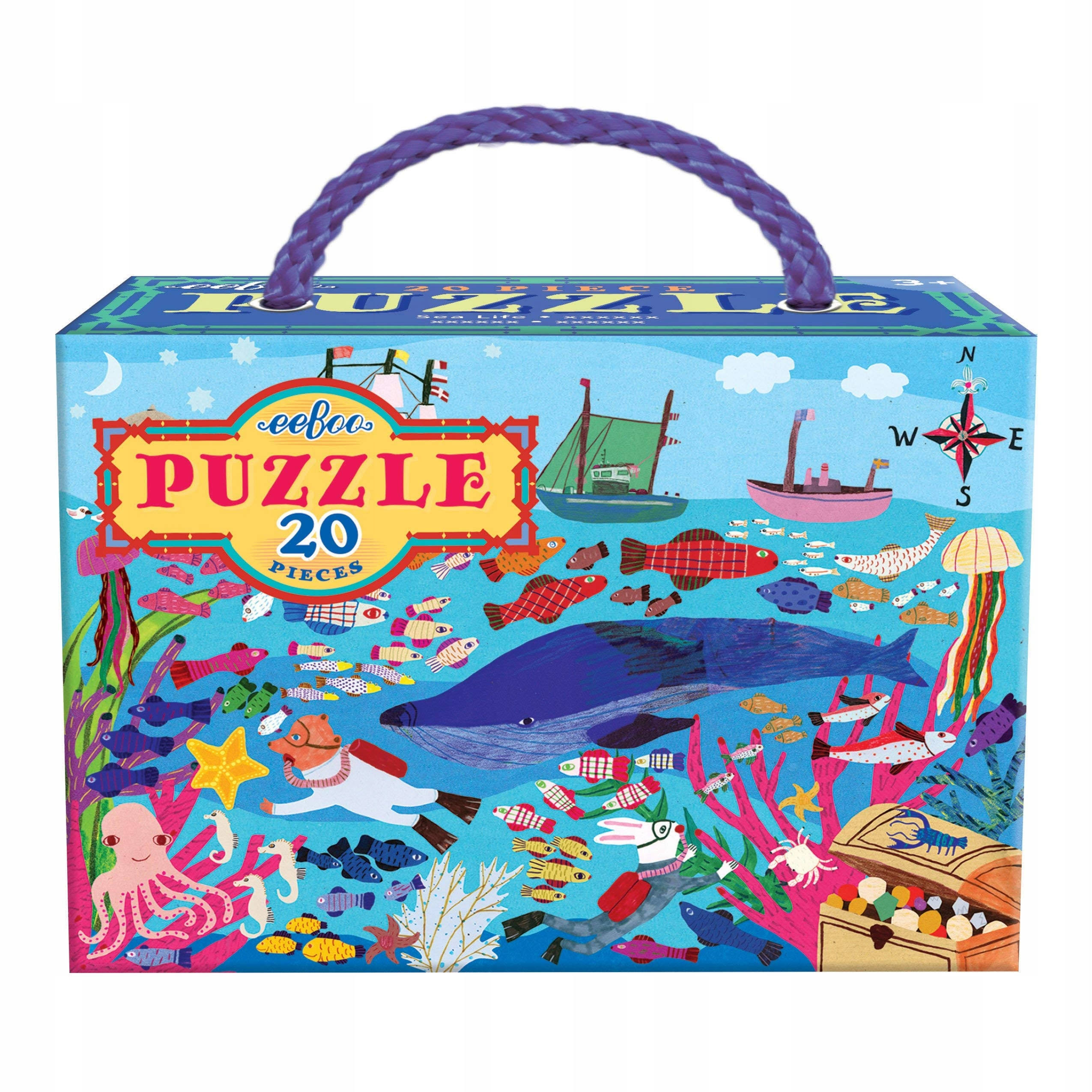 eeBoo Sea Life 20-Piece Puzzle