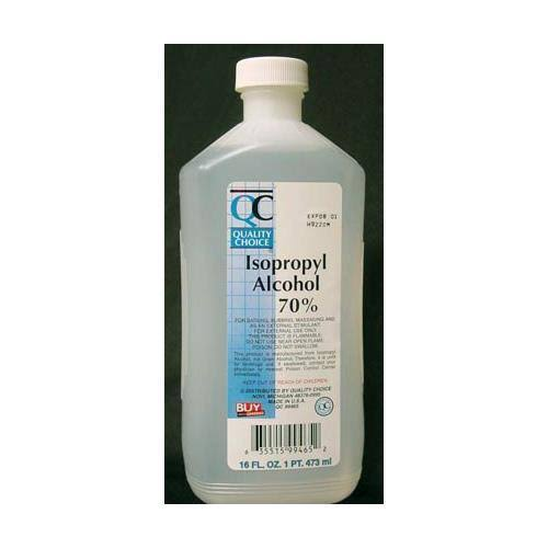 Quality Choice Isopropyl 70% Rubbing Alcohol First Aid Antiseptic 16 Ounce