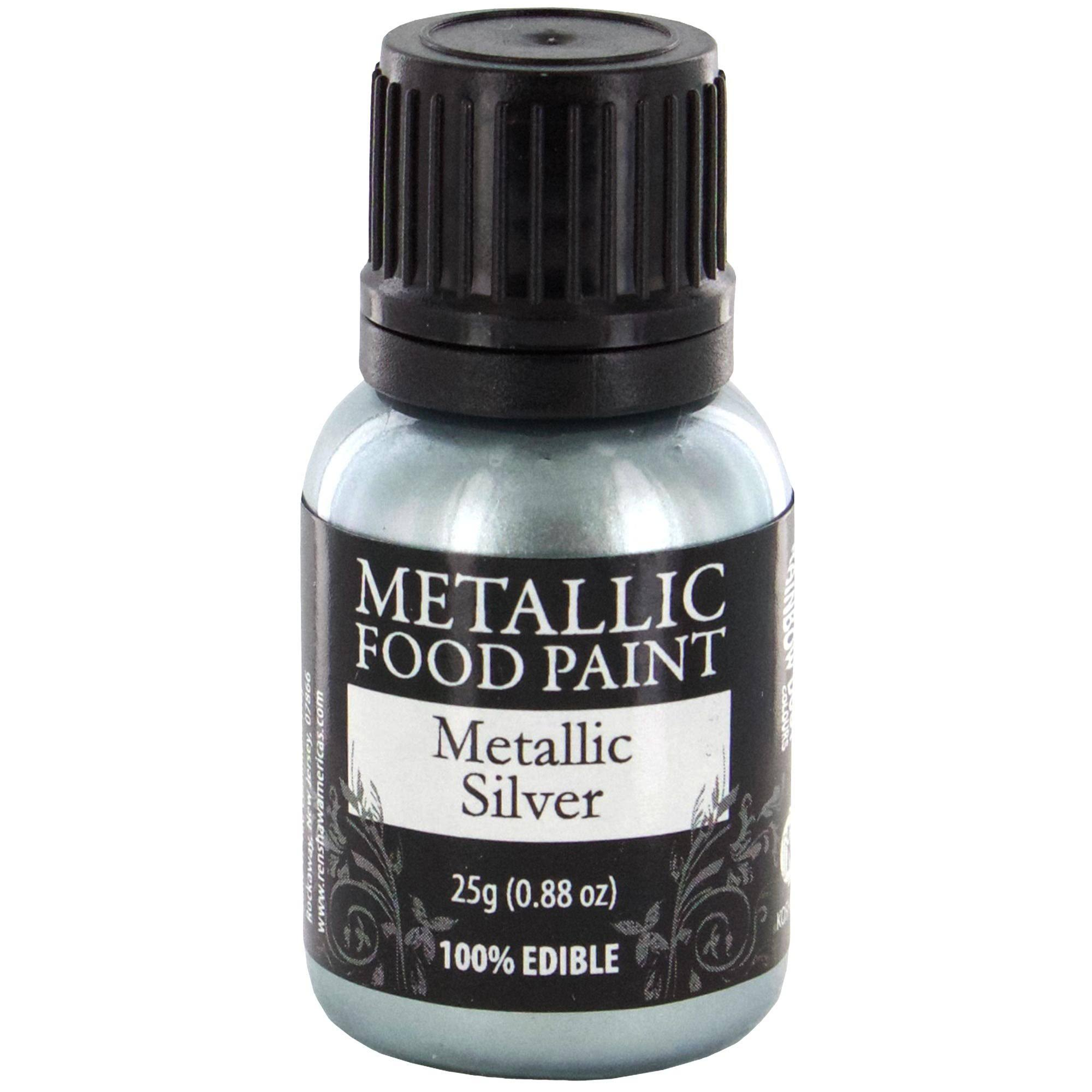 Rainbow Dust Metallic Food Paint - Metallic Silver, 25g