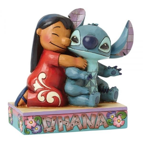 Enesco Disney Traditions Lilo & Stitch Figurine - Ohana Means Family, 14+ Year