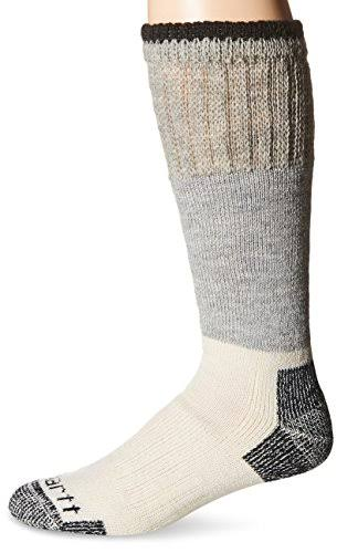 Carhartt Men's Arctic Wool Boot Crew Sock - Heather Black, Sock Size 10-13