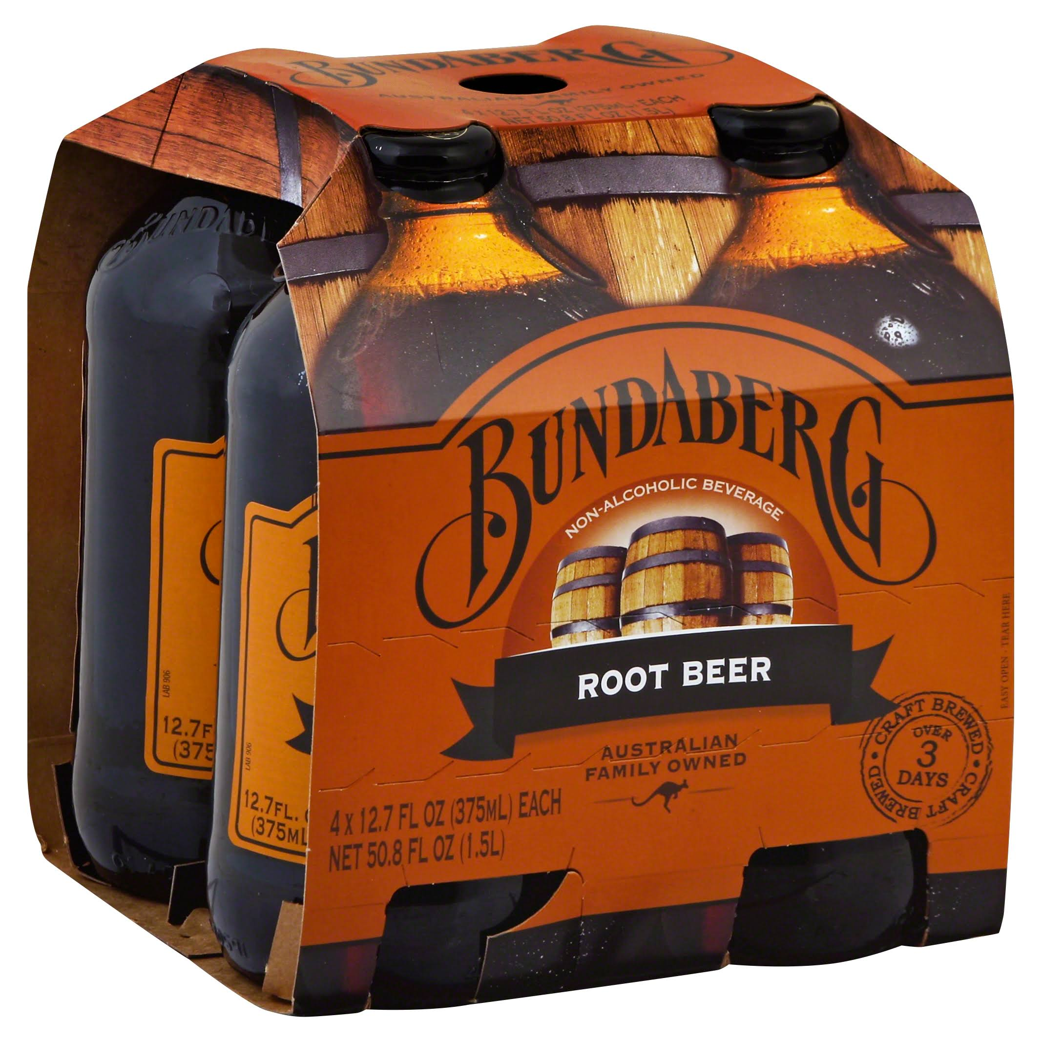 Bundaberg Root Beer - 4 pack, 12.7 fl oz bottles