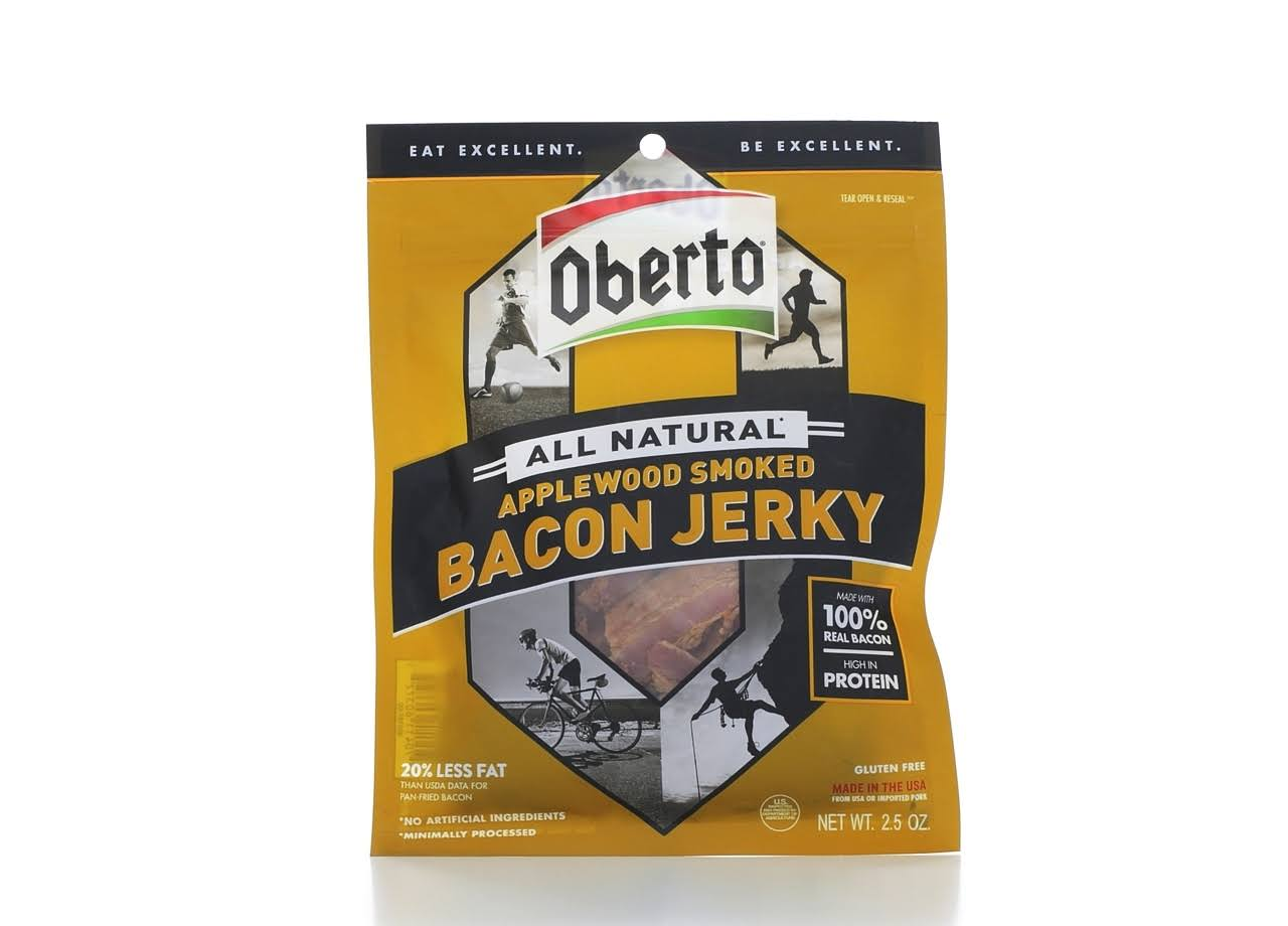 Oberto All Natural Applewood Smoked Bacon Jerky - 2.5 oz