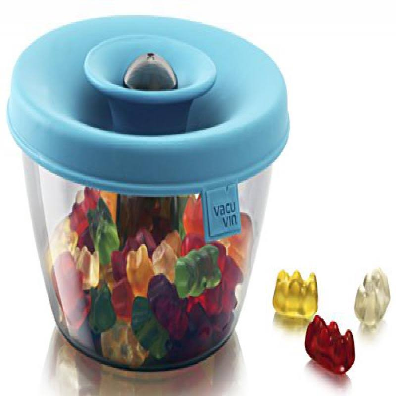 Tomorrow's Kitchen PopSome 15 oz. Nuts & Candy Dispenser in Blue