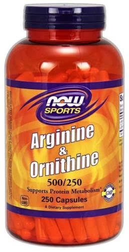 Now Foods Sports Arginine and Ornithine Supplement - 250 Capsules
