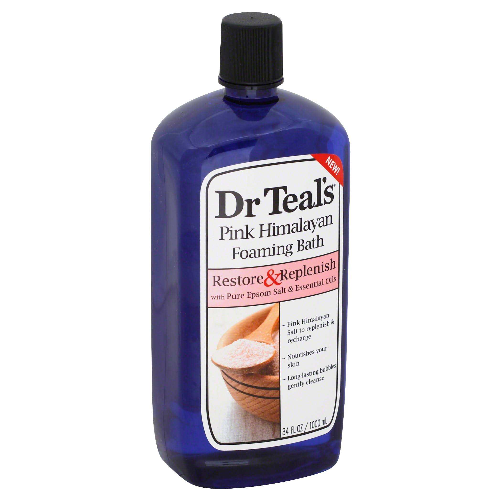 Dr Teal's Restore and Replenish Pink Himalayan Foaming Bath - 34oz
