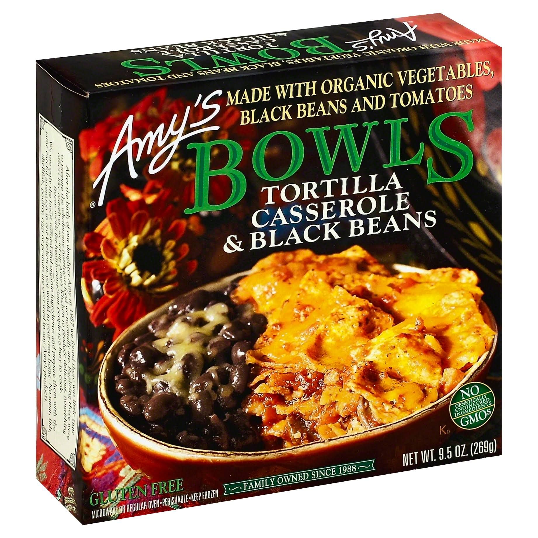 Amy's Bowls - Tortilla Casserole and Black Beans, 9.5oz
