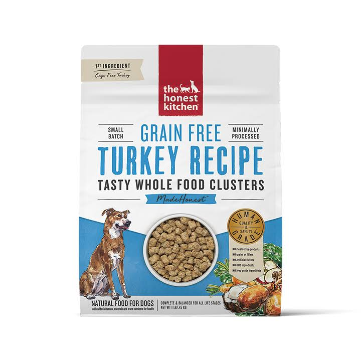 The Honest Kitchen Grain Free Turkey Whole Food Clusters, 1lb Bag