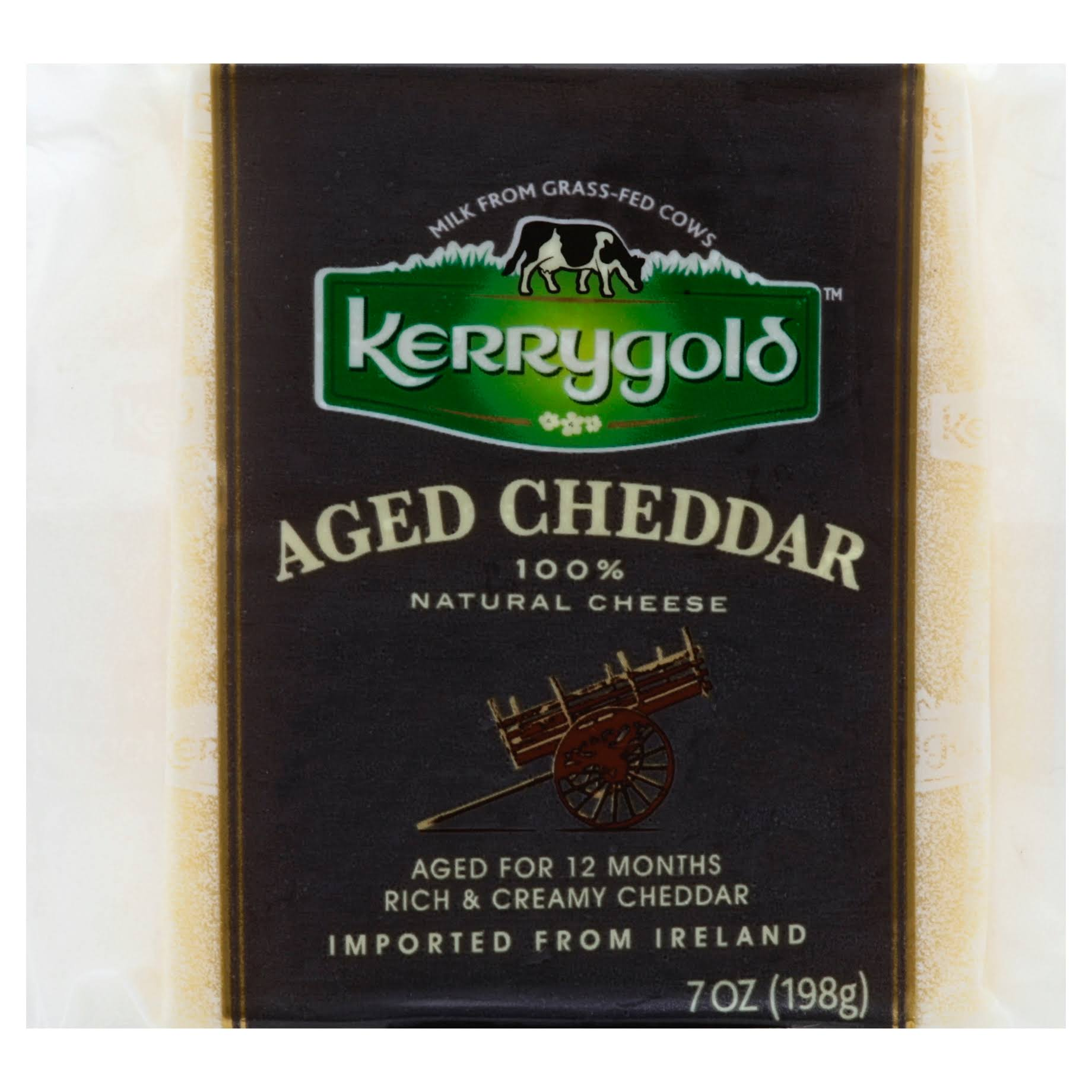 Kerrygold Cheese, 100% Natural, Aged Cheddar - 7 oz