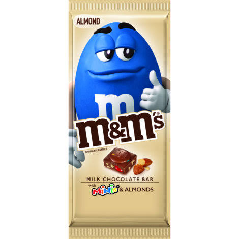M & M Chocolate Candies, with Minis/Almonds, Almond - 3.90 oz