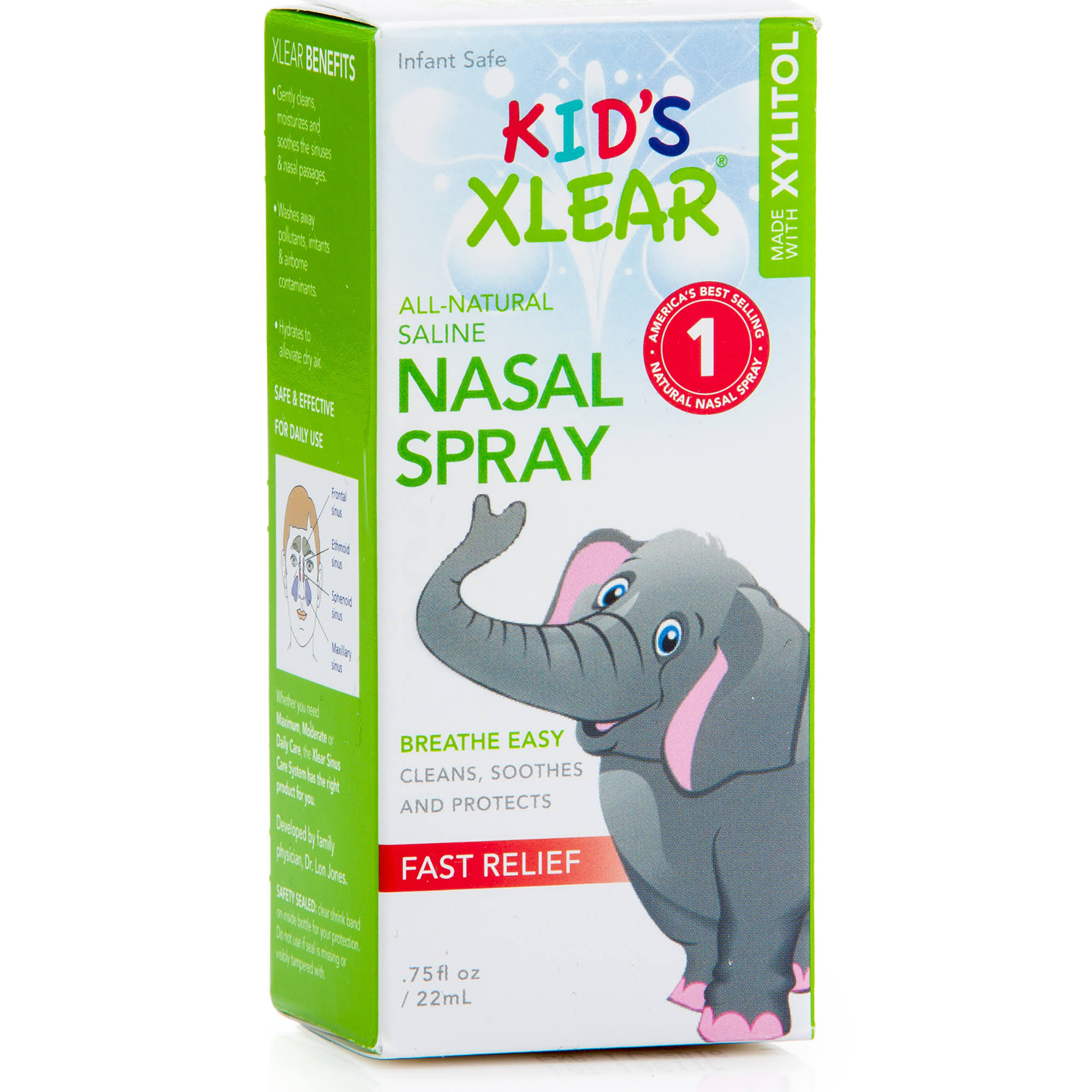 Xlear Kid's Natural Saline Nasal Spray - 22ml