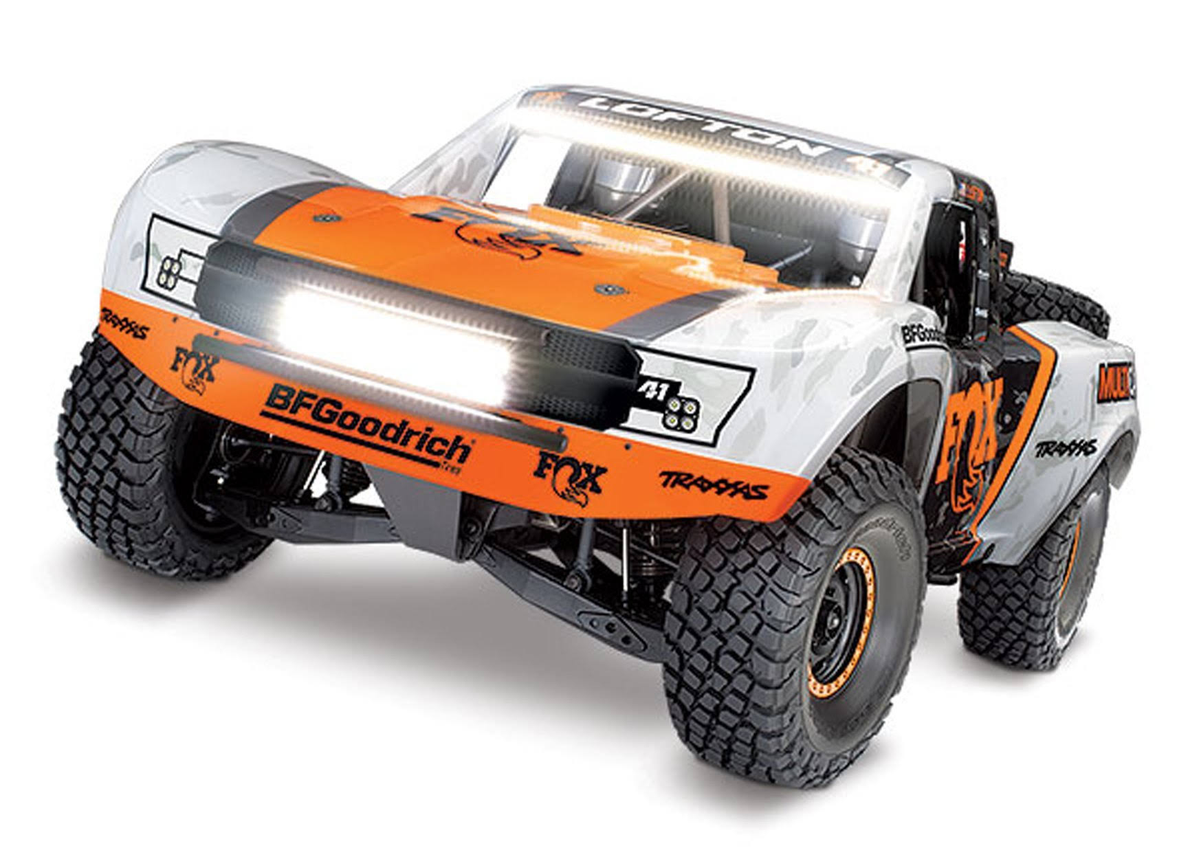 Traxxas 1/10 4WD RTR Unlimited Desert Racer w/Lights: Fox