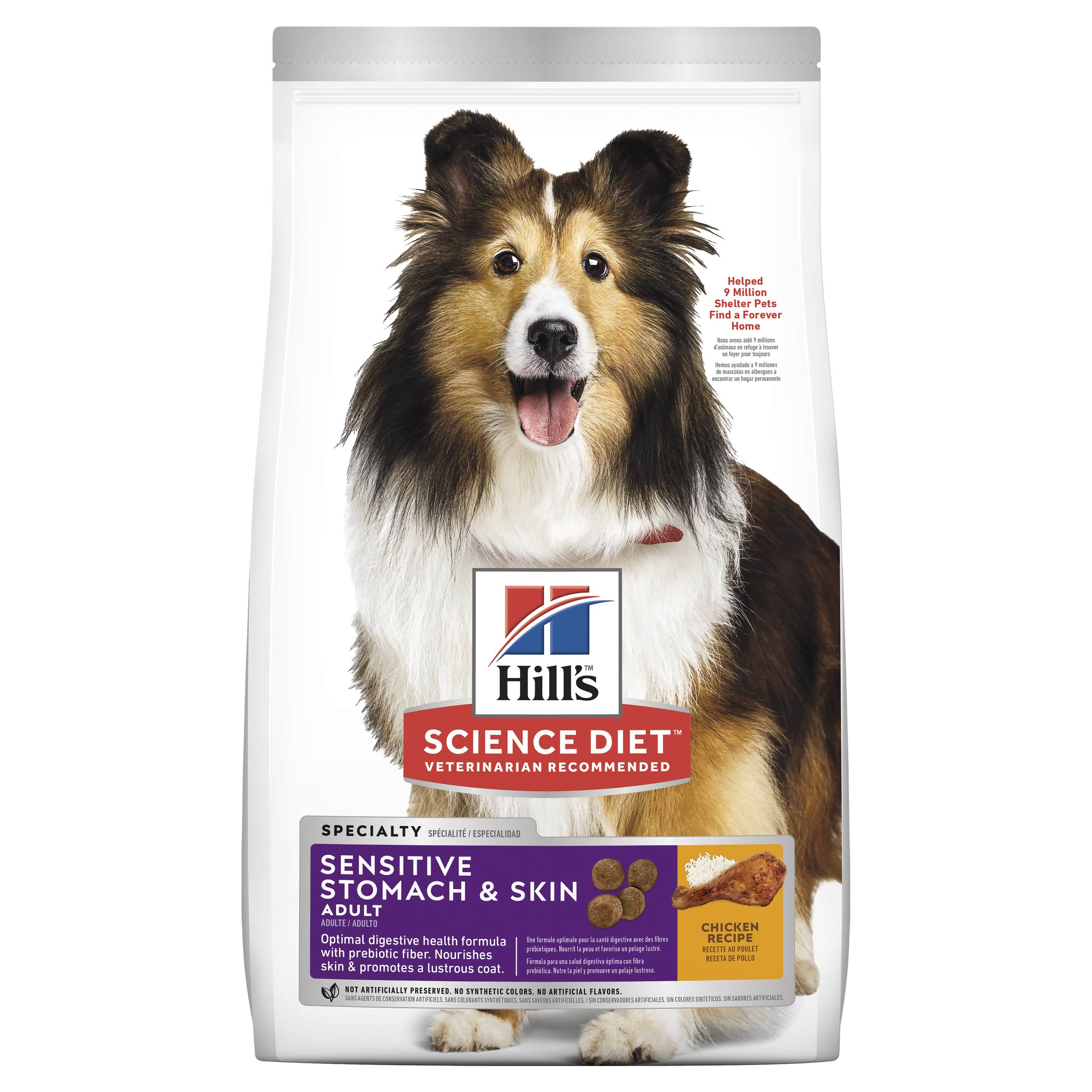 Hill's Science Diet Adult Sensitive Stomach and Skin Dry Dog Food - Chicken Meal and Barley Recipe, 4lb