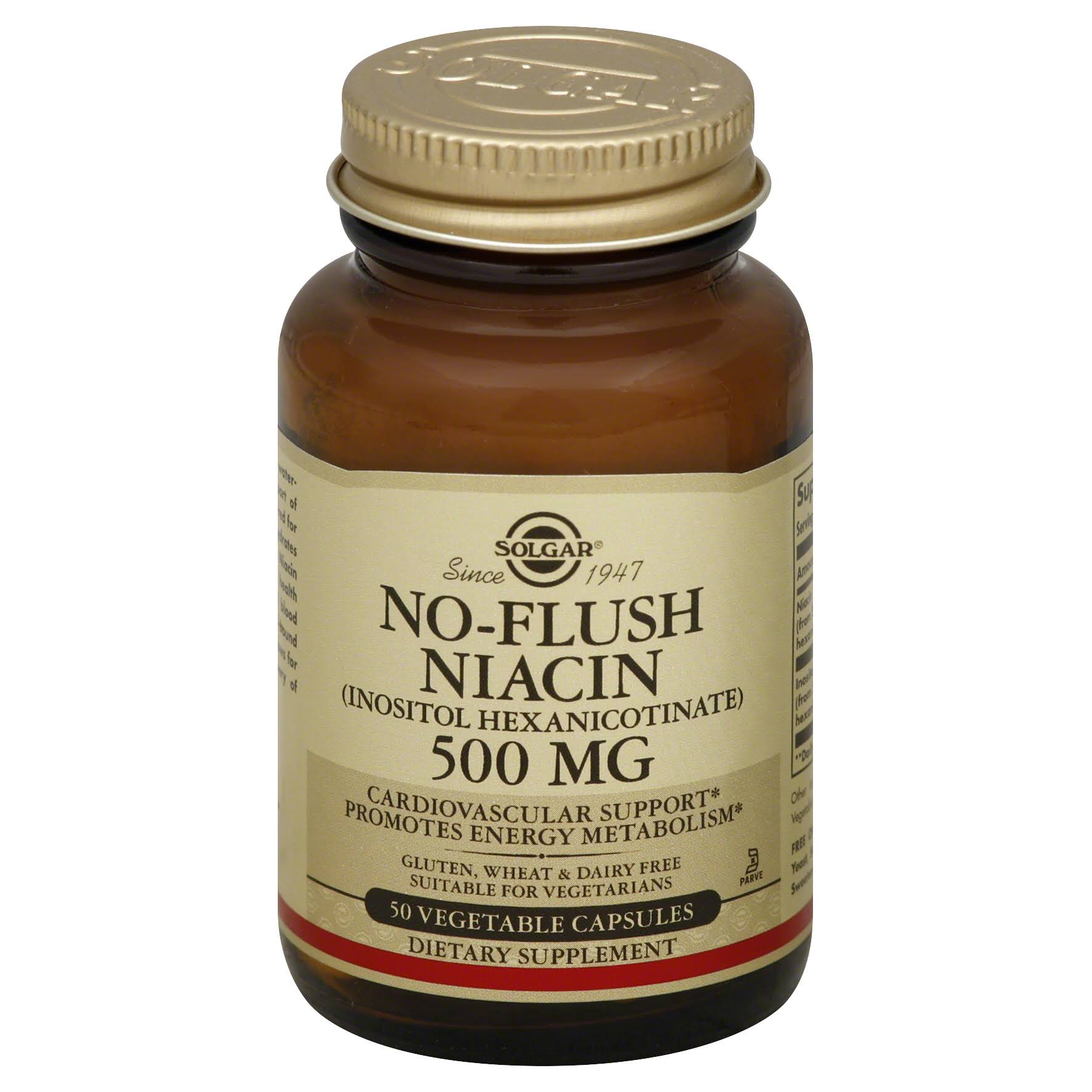 Solgar No-Flush Niacin 500 mg - 50 capsules