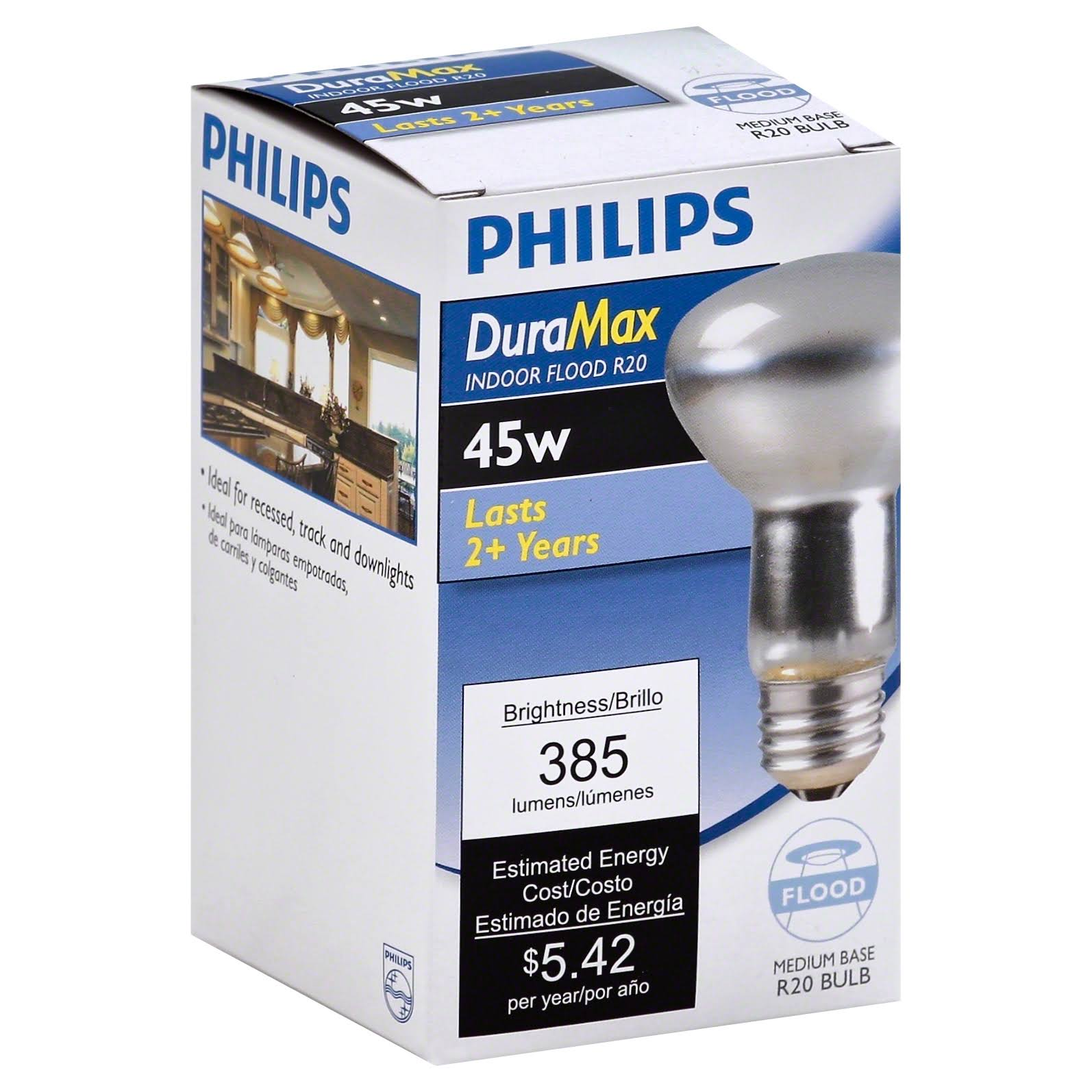 Philips DuraMax Incandescent Flood Light Bulb - 45W