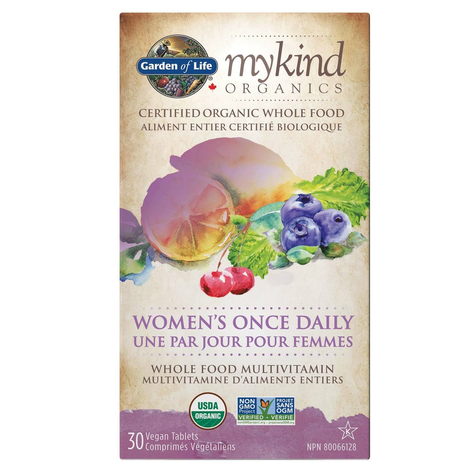 mykind Organics Multivitamin - Women's Once Daily ( 30 V-Tabs )