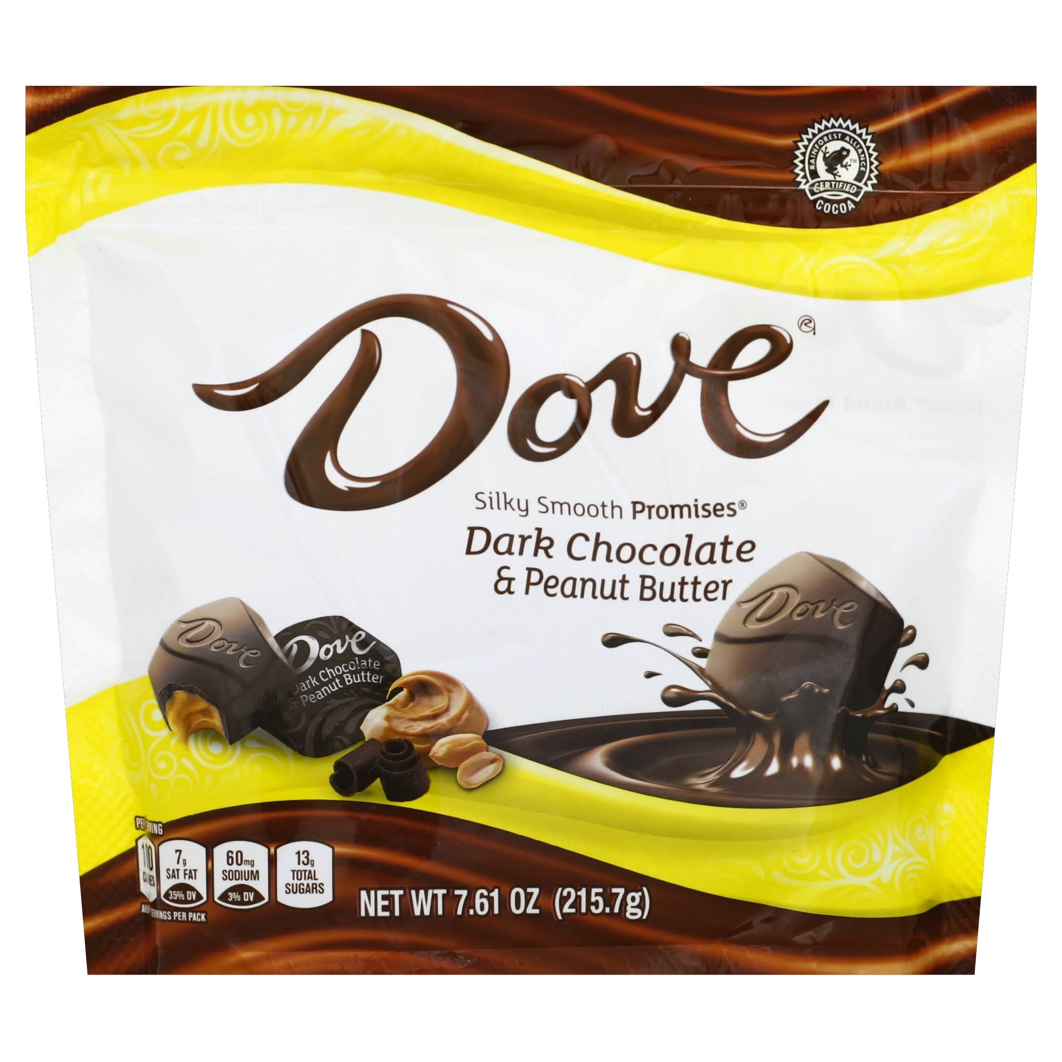 Dove Dark Chocolate & Peanut Butter Silky Smooth Promises - 7.61oz, 4pk