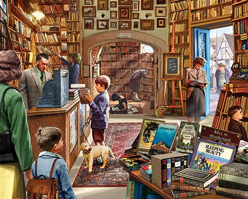 White Mountain Puzzles Old Book Store 1000-Piece Jigsaw Puzzle