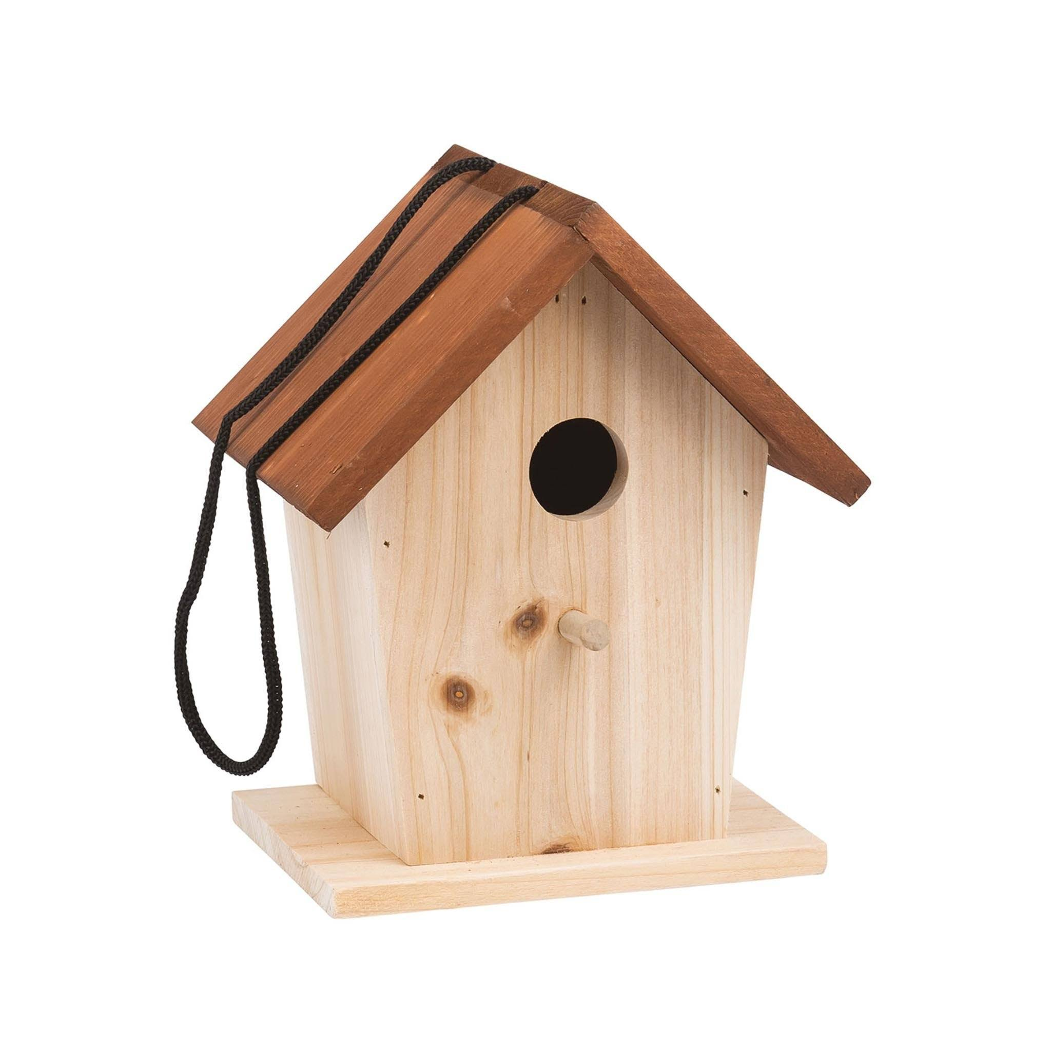 Moulin Roty Wooden Bird House - 18cm x 17cm x 22cm