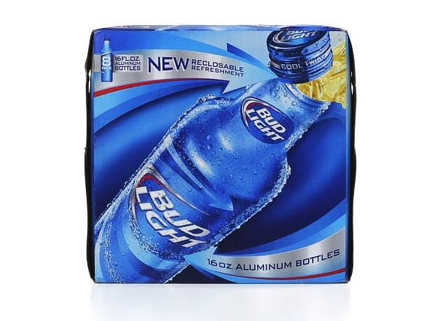 Bud Light Beer, Reclosable - 8 pack, 16 fl oz bottles