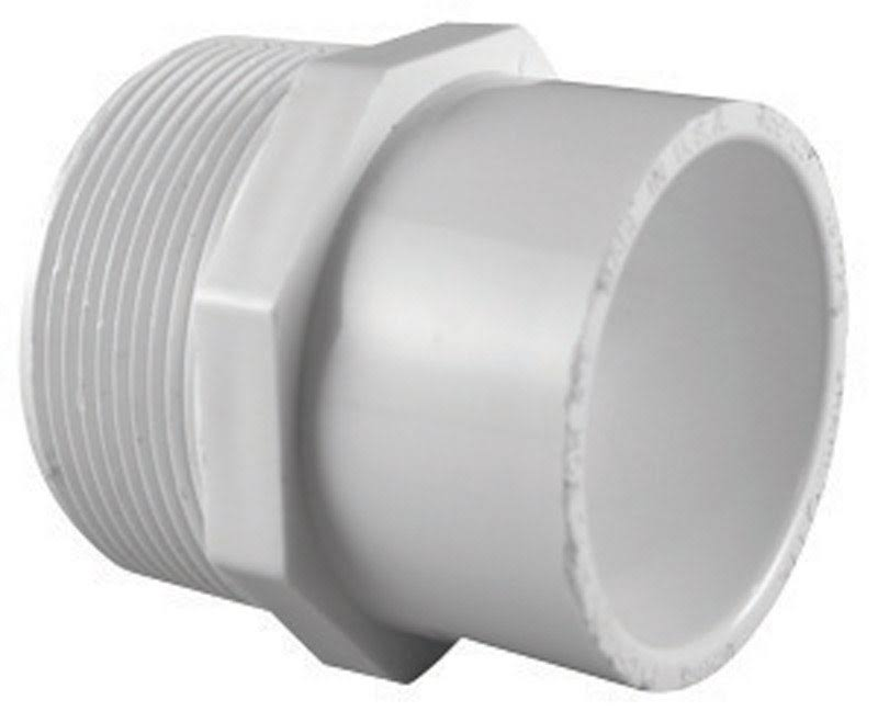 Charlotte Pipe PVC S Reducer Male Adapter - 3/4 x 1/2''