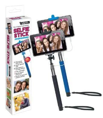 Westminster Extendable Selfie Stick with Cable and Push Button Telescopic Handle (Up to 42 inch) Blue or Black, Gray
