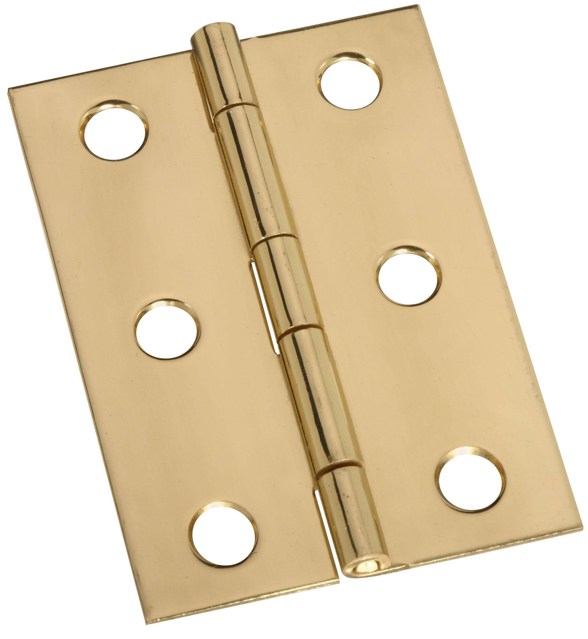 "National Hardware Solid Hinge - Brass, 2-1/2"" X 1-3/4"", 2 Count"