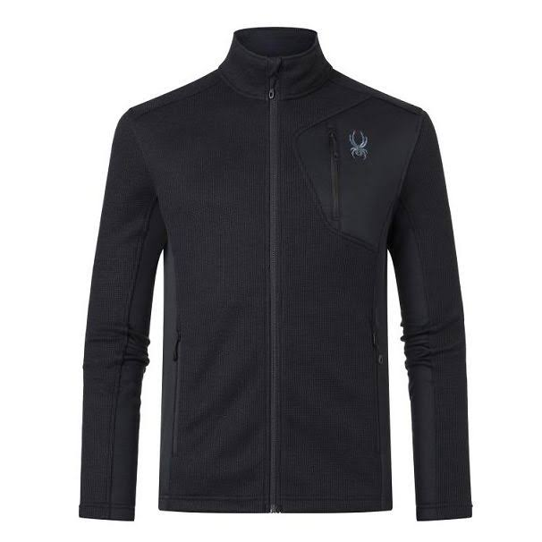 Spyder Men's Bandit Full Zip Jacket - Medium - Black Black
