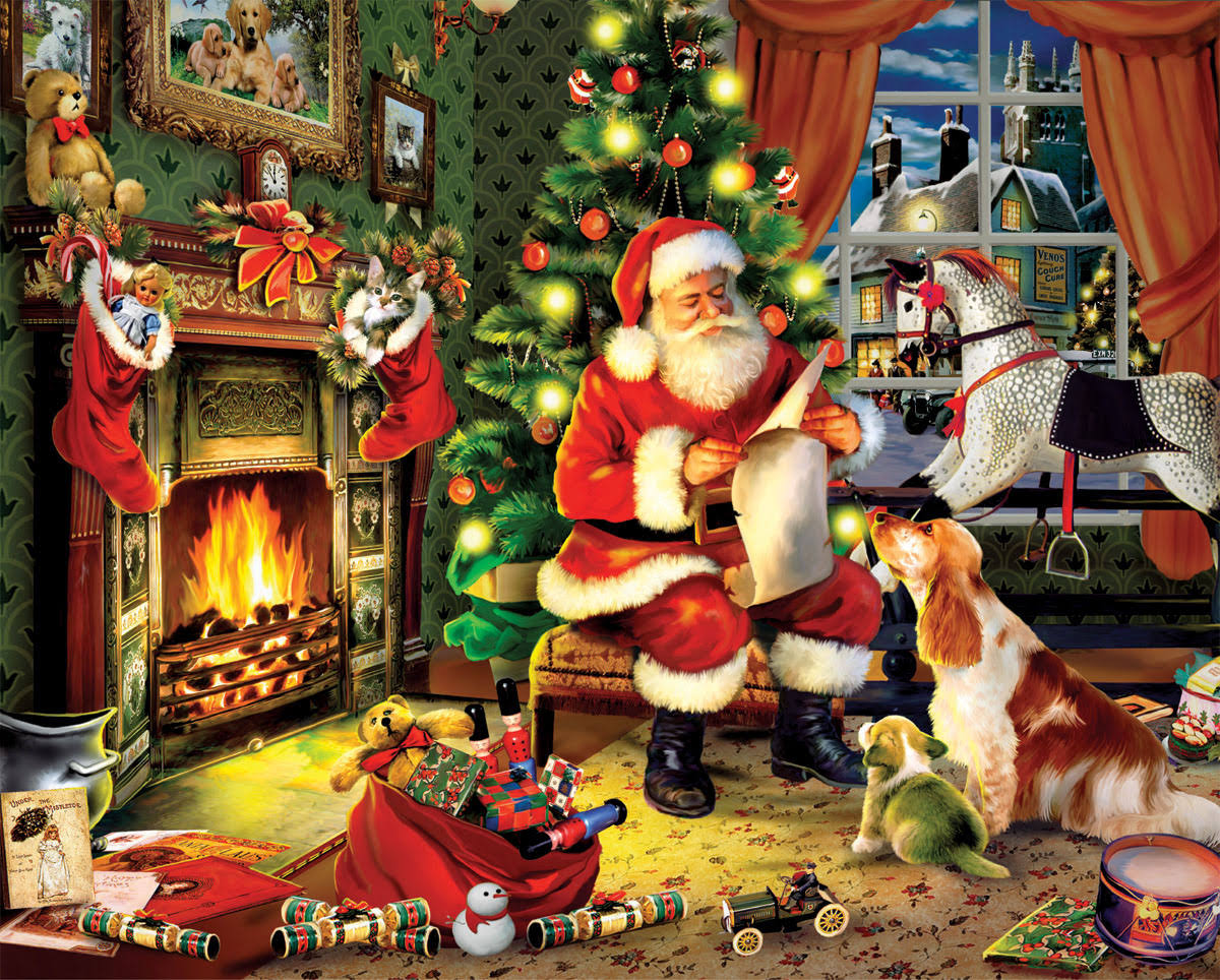 White Mountain Puzzles Santa's List 300 Piece Jigsaw Puzzle