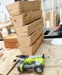 ana white cedar vertical tiered ladder garden planter diy projects