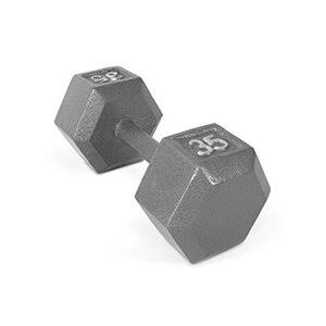 Cap Barbell Cast Iron Hex Dumbbell - 35lbs