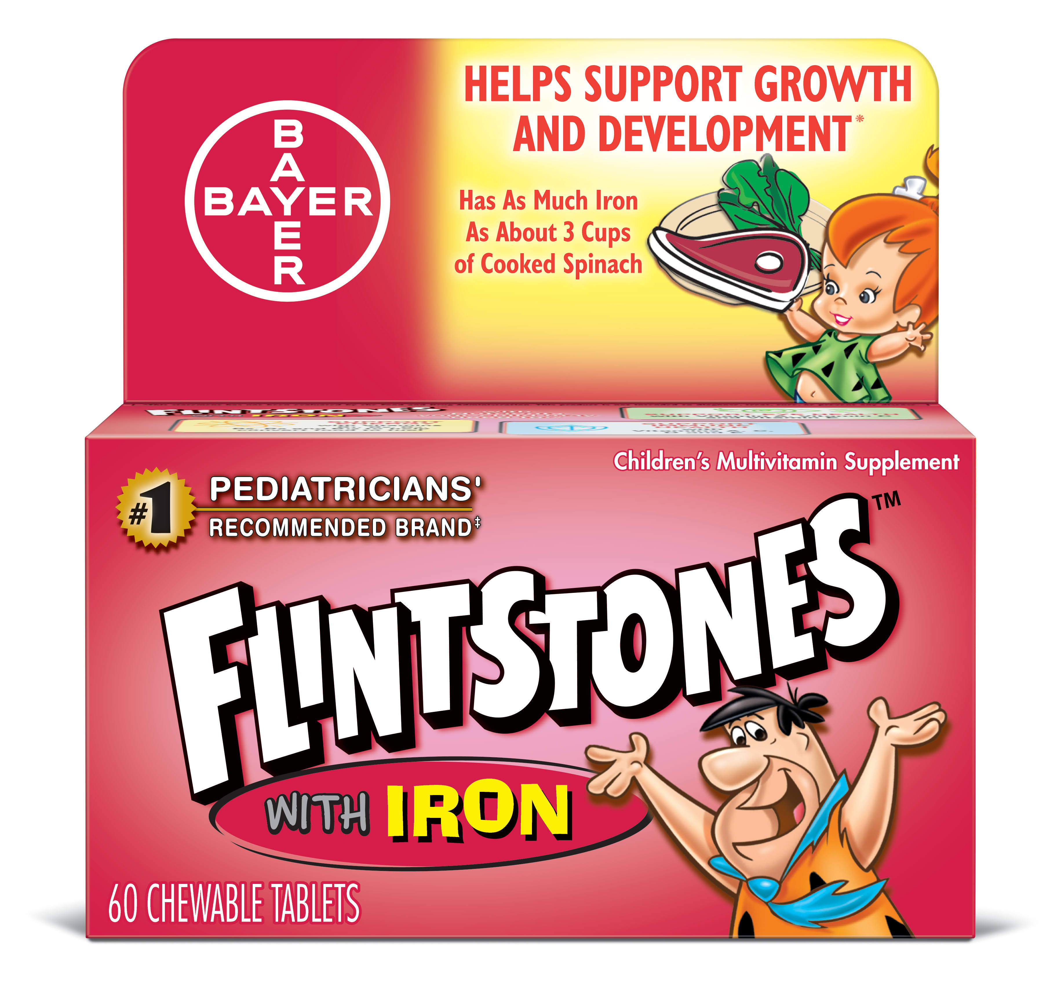 Flintstones Multivitamin with Iron Chewable Tablets - 60ct