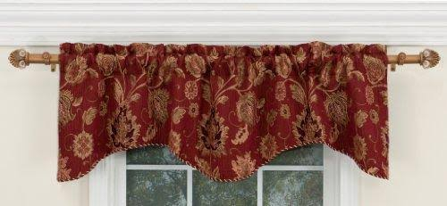 Renaissance Home Fashion Melbourne Chenille Scalloped Valance with Cording