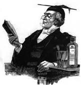 imagen blanco y negro profesor del siglo 19