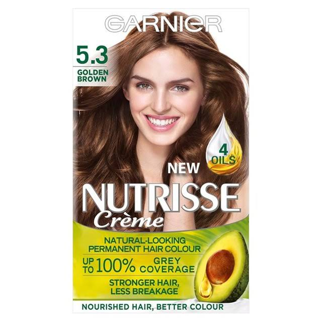 Garnier Nutrisse Permanent Hair Dye - 5.3 Golden Brown