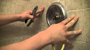 Moen Hands Free Lavatory Faucet by How To Repair A Moen Shower Faucet Step By Step Youtube