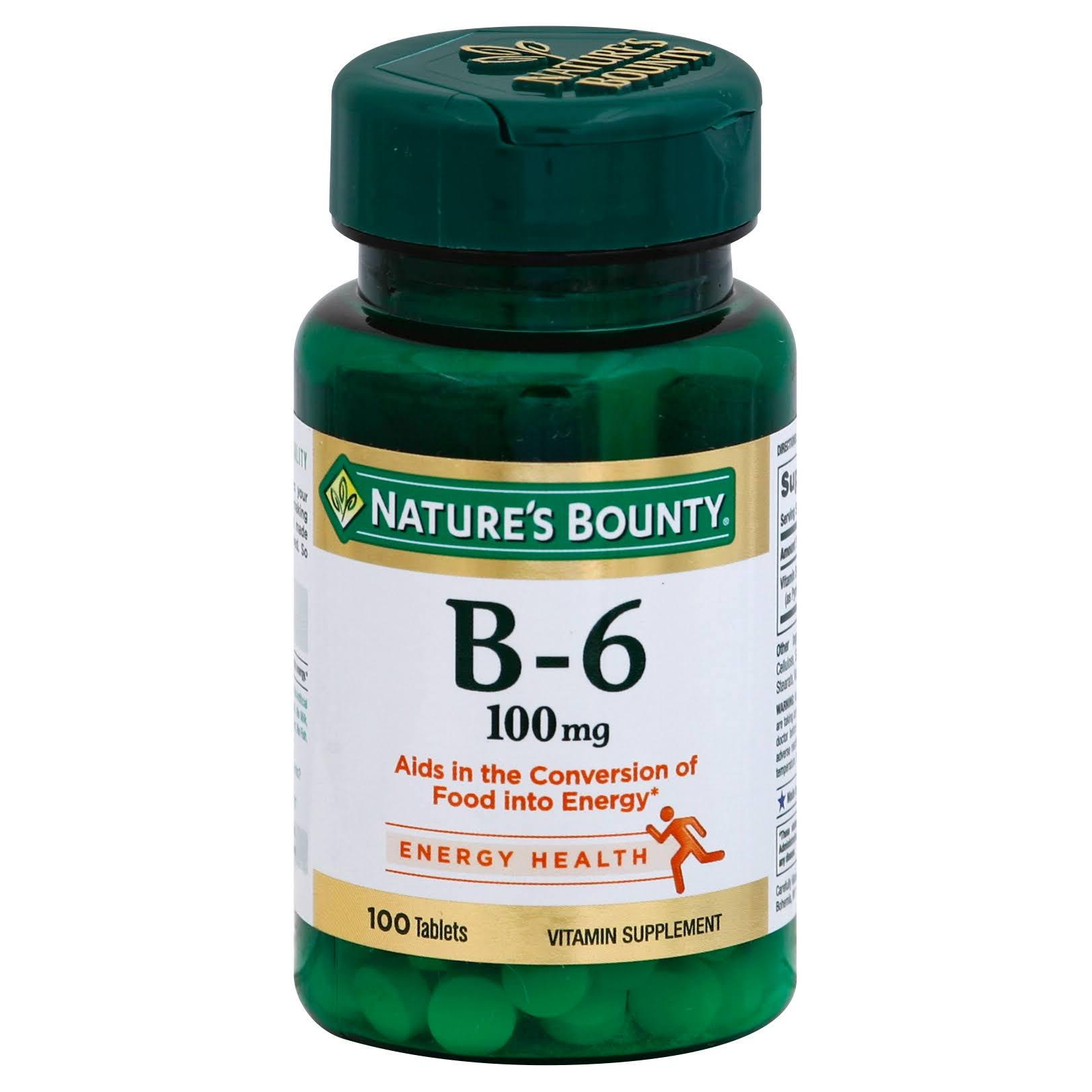 Nature's Bounty Vitamin B-6 - 100mg, 100 Tablets