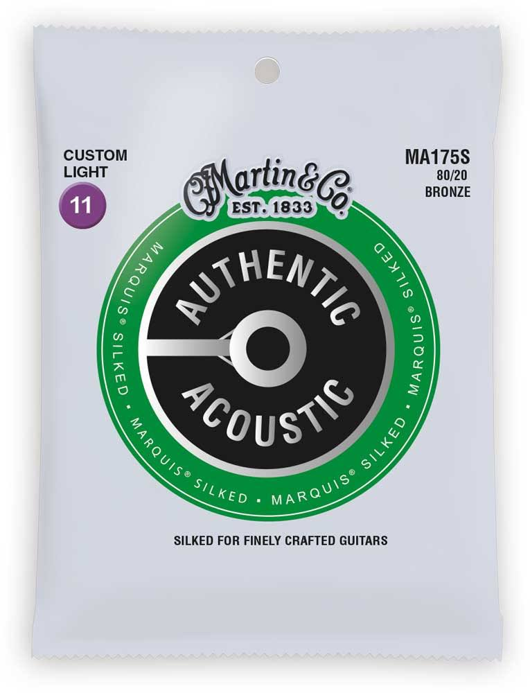 Martin Ma175s Authentic Acoustic Custom Light Guitar Strings - 80/20 Bronze