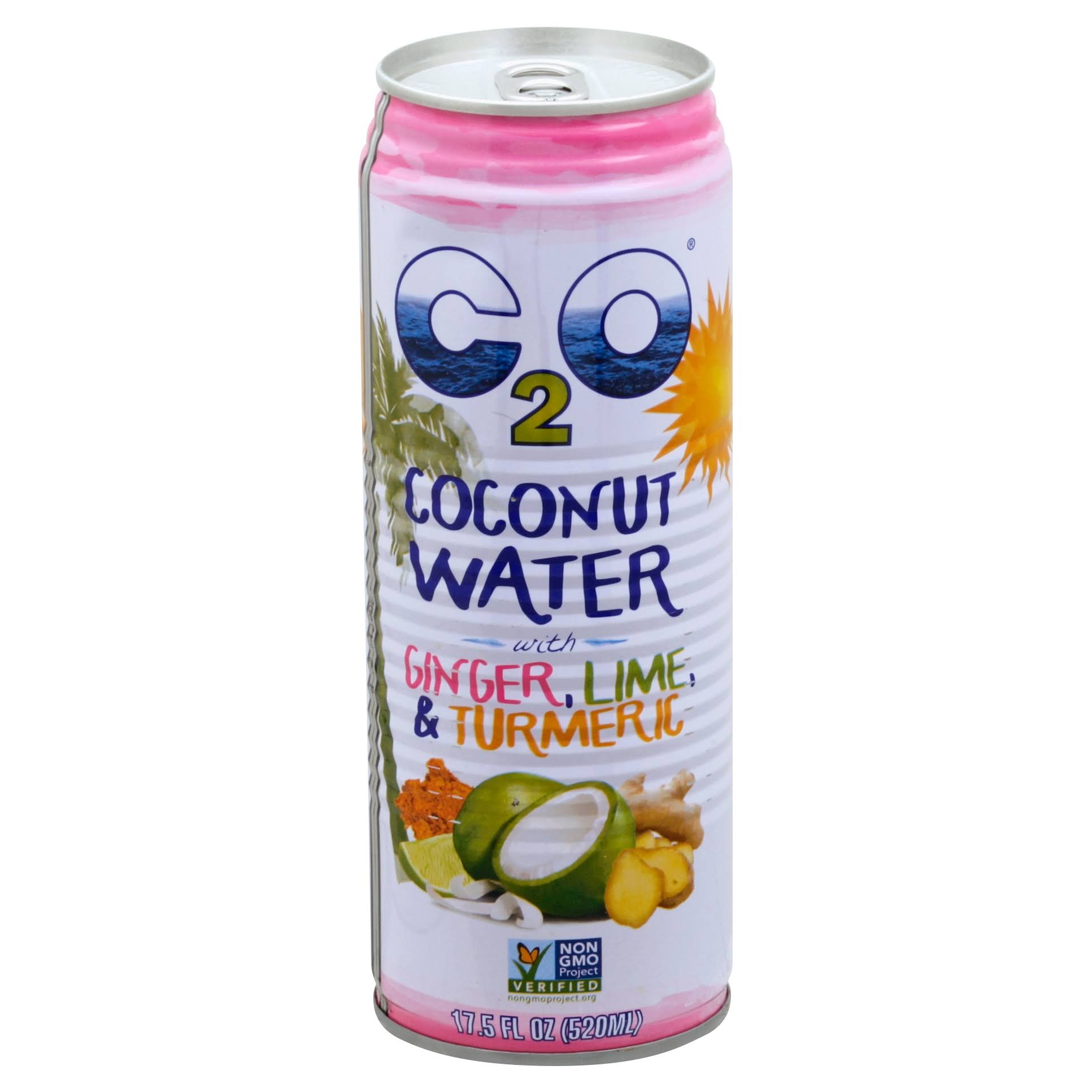 C2O Coconut Water, with Ginger, Lime, & Turmeric - 17.5 fl oz