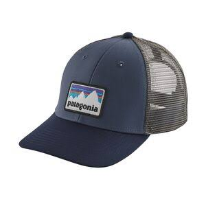 Patagonia Shop Sticker Patch Lo Pro Trucker Hat - Dolomite Blue
