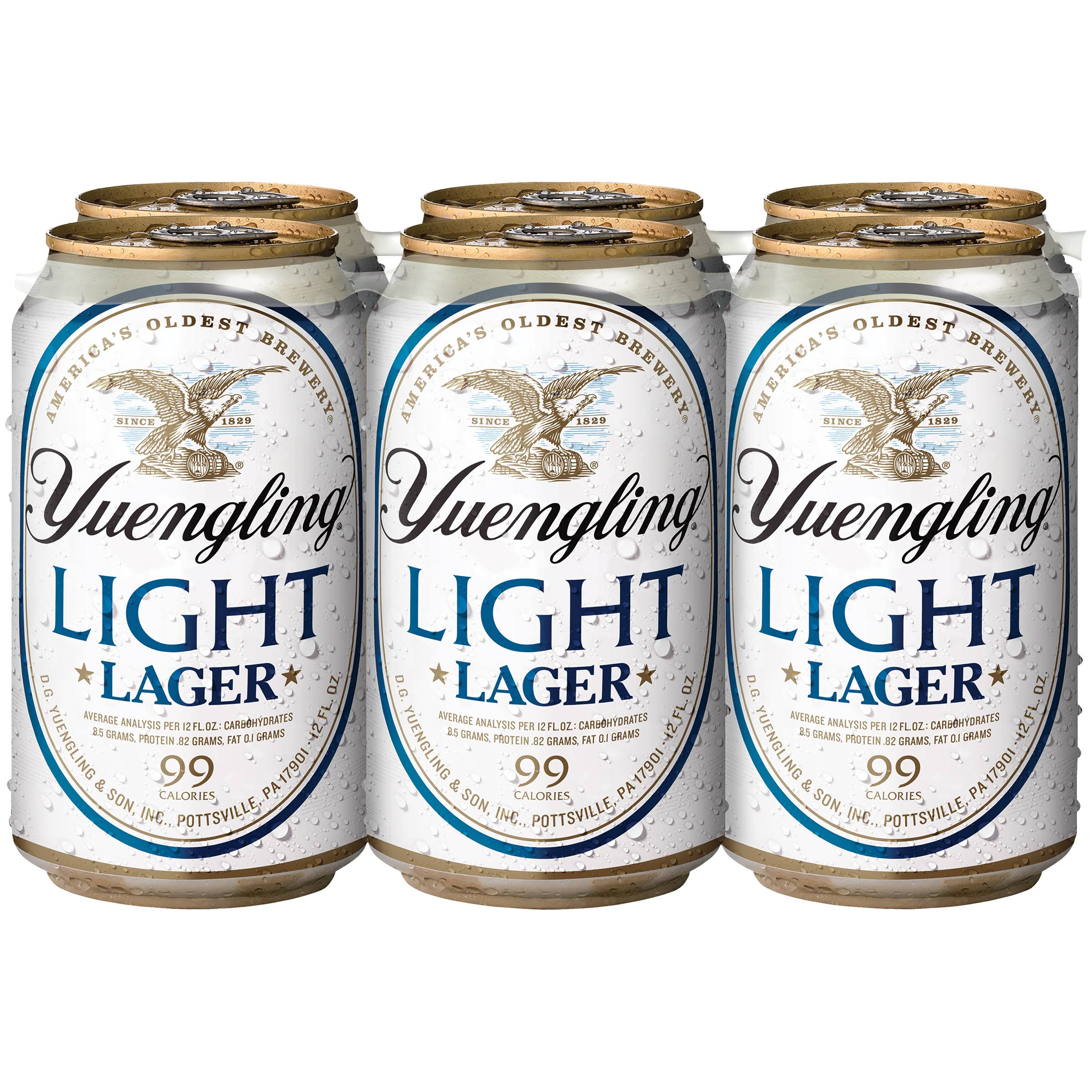 Yuengling Light Lager 6-12 Fl. Oz. Cans