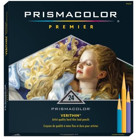 Prismacolor Premier Verithin Colored Pencils - 24 Pencils