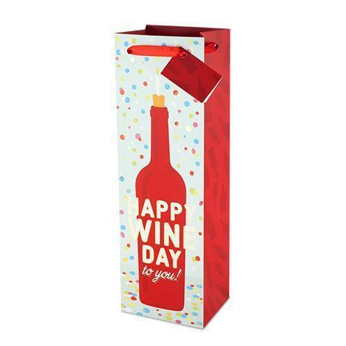 Cakewalk Happy Wine Day to You Wine Bag