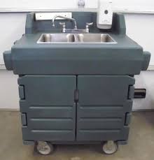 Self Contained Portable Sink by Cambro Ksc402 Portable 2 Comp Hand Washing Sink Ebay