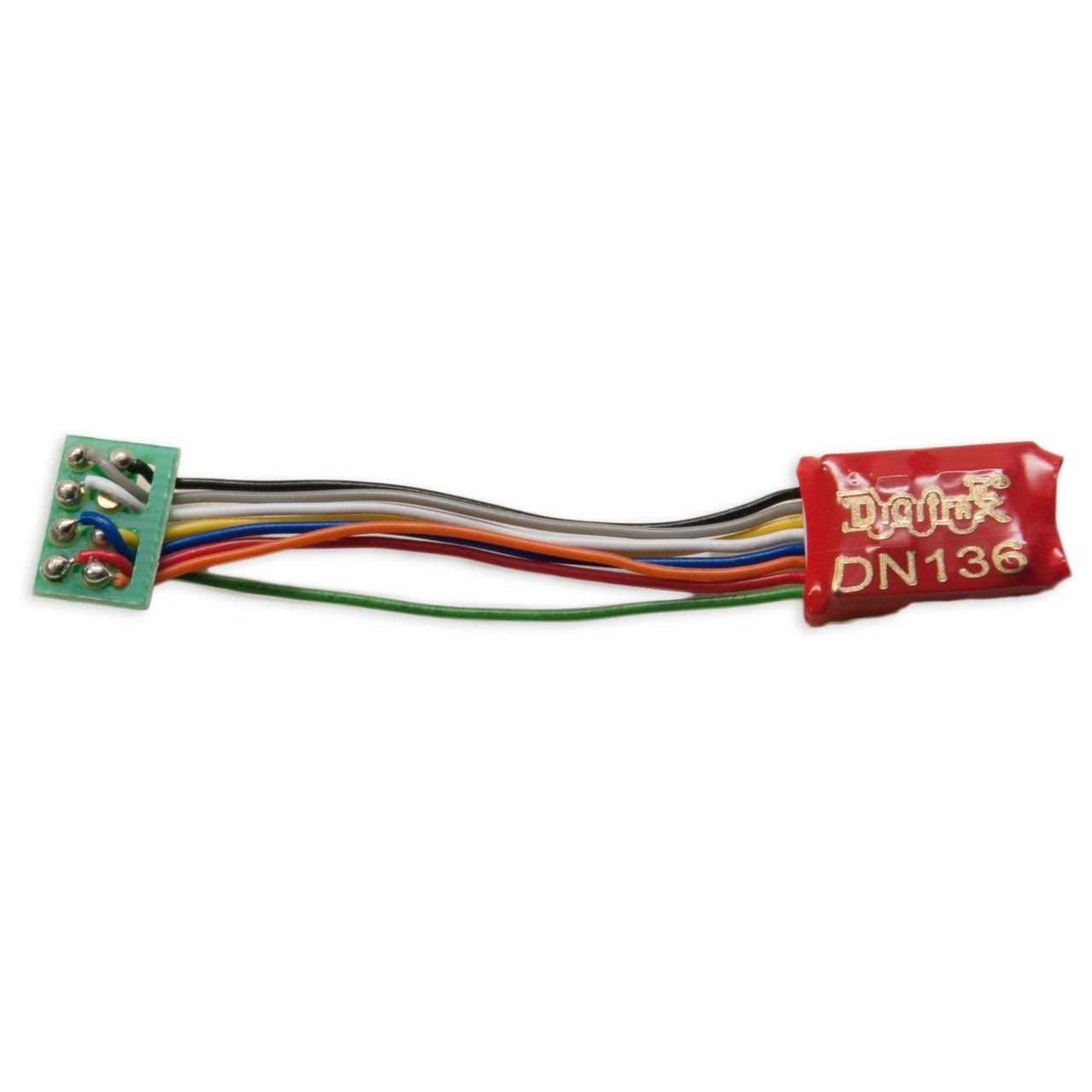"Digitrax - N DCC Decoder Series 6, 3.2"" Wires 3 FN 8-Pin 1A - DN136PS"