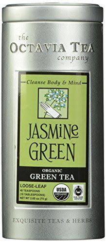 Octavia Jasmine Green Organic Green Tea Loose - 2.8 oz tin