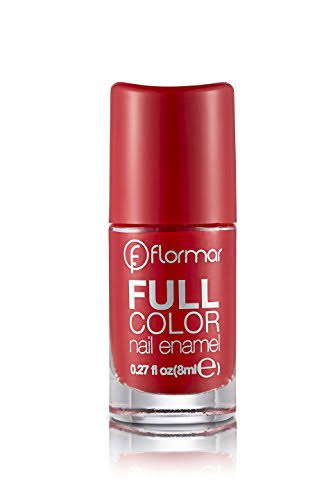 Flormar Full Color Nail Enamel - Fc08 Optimistic Red, 8ml